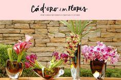 Passo a passo de 4 arranjos florais minimalistas e sofisticados feitos pela Milplantas em vasos da Cristais Cá d'Oro para floris cantos variados da casa! Vejam como pode ser simples e prazeroso montar arranjos como esses!