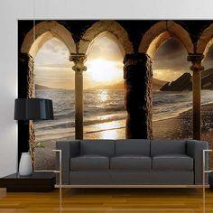 Prezzi e Sconti: #Fotomurale castello sulla sabbia 350x245cm  ad Euro 110.90 in #Erroi #Casa e arredamento quadri