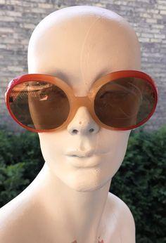 289150635ca Vintage Sunglasses   Ladies Sunglasses   Large Round Sunglasses   1970s  Fashion   Cool Ray Sunglasses