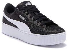 Puma Vikky Platform Glitz Platform Sneaker (Big Kid) daea4e7b8