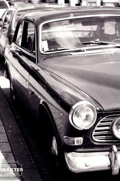 Old retro car in Rotterdam, Netherlands