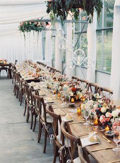 elegant fall reception - photo by Austin Gros http://ruffledblog.com/elegant-nashville-fall-wedding