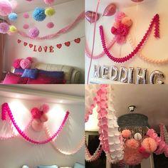 Amazon.com: Wisehands Clover Flower Paper Garlands for Birthday, Wedding, Baby…