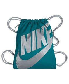 Nike Bag, Heritage Gymsack from Macy& on Catalog Spree, my personal digital mall. Nike Joggers, Nike Leggings, Nike Motivation, Nike Wedges, Balenciaga Womens, Cute Nikes, Nike Bags, Nike Windbreaker, Nike Soccer