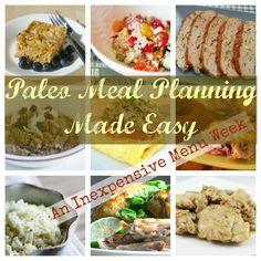 Paleo Meal Planning, Free Paleo Meal Planner, Inexpensive Paleo, Paleo on a Budget, Cheap Paleo, Fast Paleo, Paleo Crock Pot,