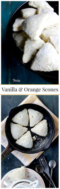 {Starbucks Copycat} Petite Vanilla and Orange Scones | www.diethood.com | #breakfast #scones