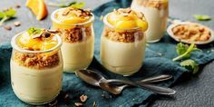 Yoplait is a delicious gluten free yogurt with a wide selection of yogurt flavors. Learn more about Yoplait yogurts and Go-Gurt yogurt nutrition today. Thermomix Desserts, Vegan Desserts, Yogurt Nutrition, Avocado Dessert, Yogurt Breakfast, Breakfast Ideas, Pudding Desserts, Yogurt Recipes, Fabulous Foods