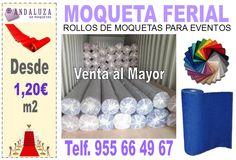 Almacén de moquetas al por mayor, envíos a toda Europa. www.andaluzademoquetas.com , moqueta ferial roja, moqueta para bodas fucsia, moqueta ferial blanca.