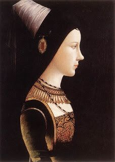 MARY OF BURGUNDY. Duchess of Burgundy, reigned over the Low Countries from 1477 until her death. As the only child of Charles the Bold and his wife Isabella of Bourbon. Wife to Maximilian I, Holy Roman Emperor Renaissance Portraits, Renaissance Art, Renaissance Jewelry, Saint Empire Romain, Maximilian I, Late Middle Ages, Roman Emperor, Herzog, Medieval Art