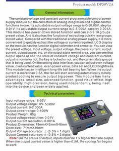 DP50V5A Buck Adjustable DC Power Supply Module With Integrated Voltmeter Ammeter Color Display Sale - Banggood.com