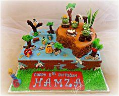 Angry Birds Cake - by YusysCakes @ CakesDecor.com - cake decorating website