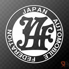 Japan Automobile Federation Vinyl decal sticker JDM Drifting Nissan Toyota Honda