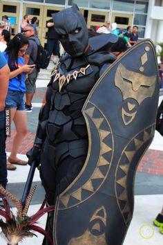 Beautiful Black Panther Cosplay!