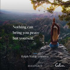 Calm is the app for sleep and meditation. Calm App, Daily Calm, Emerson Quotes, Inner Peace Quotes, Dear Self, Calm Quotes, Ralph Waldo Emerson, Subconscious Mind, Live In The Now