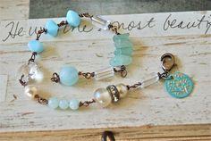 Eloise.crystal gemstone pearl beaded charm by tiedupmemories, $32.00