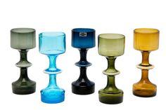 Kaj Franck designed the vase for Nuutajärvi in 1956 in several colors;