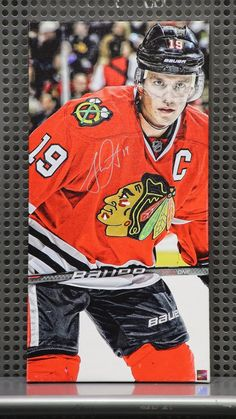 Toews on canvas. Almost as good as Toews on ice! Bid on it tonight (4/26) at the CBC silent auction table!