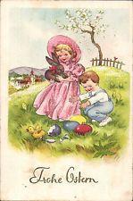 43700 Ostern - Kinder mit Hase, Küken EIer