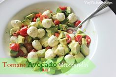Very Vicky: Tomato Avocado Mozzarella Salad
