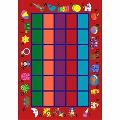 "Educational Alphabet Phonics Red Kids Rug Size: 10'9"" x 13'2"" by Joy Carpets. $827.00. Great Gift Idea.. Design is stylish and innovative. Satisfaction Ensured.. Manufactured to the Highest Quality Available.. 1624G-02 Size: 10'9"" x 13'2"" Features: -Technique: Tufted / Cut pile.-Material: 100pct Stainmaster nylon.-Origin: USA.-SoftFlex backing.-CRI green label plus certifications. Construction: -Construction: Machine made. Color/Finish: -Color: Green. Collection: -Collection: E..."