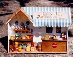 Dollhouse Miniature 1/12th Scale - Gary's Produce Stand Crafted by Linda Novak