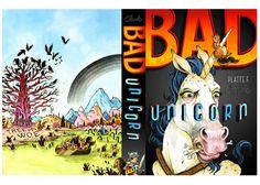 Badunicorn. Story by Platte F Clark, Book Cover by John Hendrix