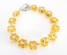 Yellow Merigold Bracelet - Handmade