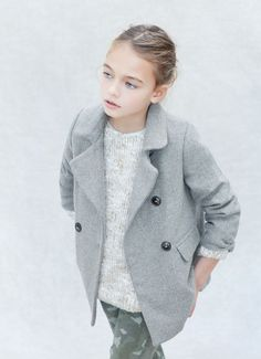 Warm coat for little fashionistas