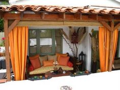 orange outdoor decor accessories