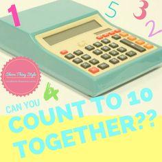 Can you count to 10 together?? Lularoe Game www.facebook.com/groups/lularoeshannonlarisa