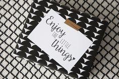 Little Dutch ♥ Present ♥  #littledutch #wrappingpaper #card #flower #beads  #love #momochrome #black #white #diy