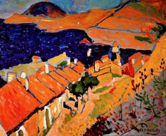André Derain (French, 1880–1954): Collioure, the Village and the Ocean, 1905. Oil on canvas, 60.7 x 76.2 cm (23.9 x 30 inches). Scottish National Gallery of Modern Art, Edinburgh, Scotland, UK. © This artwork may be protected by copyright. It is posted on the site in accordance with fair use principles.
