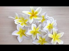 【Paper Flower】プルメリア How to hold a Purumeria - YouTube
