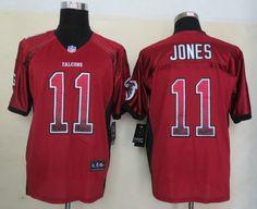 Atlanta Falcons 11 Jones Drift Fashion Red Elite Jerseys