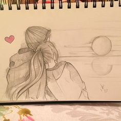 Art Drawings Love Couples Paintings 48 Ideas- Kunst Zeichnungen Liebe Paare Gemälde 48 Ideen Couples drawings a target = _ blank class = pintag href = / explore / couples / title = # couples explore . Cute Drawings Of Love, Cute Couple Drawings, Cute Couple Art, Anime Couples Drawings, Cool Art Drawings, Pencil Art Drawings, Art Drawings Sketches, Disney Drawings, Easy Drawings