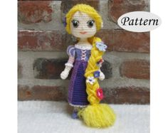 PATTERN  BELLE   Amigurumi  Crochet Doll  Photo Tutorial  | Etsy