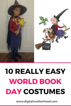 If you're looking for an easy no-sew World Book Day costume, how about the witch from Room on the Broom Kids Book Character Costumes, Book Character Day, Character Dress Up, Book Costumes, World Book Day Costumes, Teacher Costumes, Costume Ideas, Easy Book Week Costumes, Easy Halloween Costumes Kids