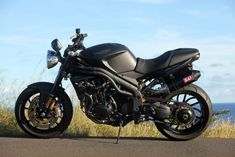 Triumph Speed Triple Matte Black with extras and mods. My absolute favorite bike