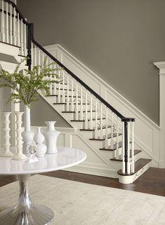 decor, wall colors, idea, paint colours, stair risers