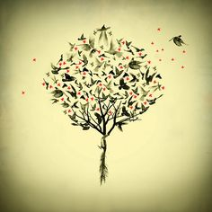Would make a lovely tattoo....roots and wings