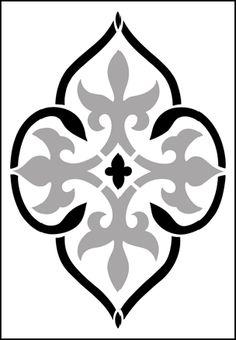 Gótico y medieval Motif No hay 13 plantillas, stensils y stencles