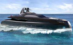 Herunterladen hintergrundbild project gotham superyacht, meer, luxus-schiff, symbol yachten