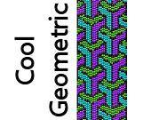 Peyote Bracelet Pattern Cool Geometric Shapes Delica Seed Beads Pattern by MigotoChou, $6.00