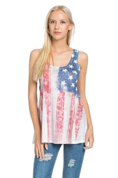 B-Tween American Flag Tank Top CJ-720026