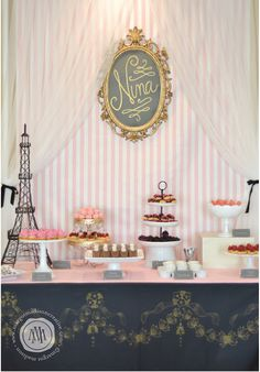 MargotMadison: A Pink and Gold Parisian Party for Nina