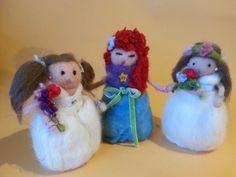 Muñecas hechas en nuestro taller por tres estupendas artesanas de 9 años