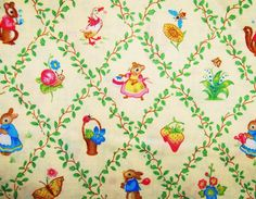 Storybook Fabric  1 Yard by OutWestCreations4U on Etsy