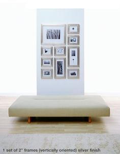 Picture wall template and frames