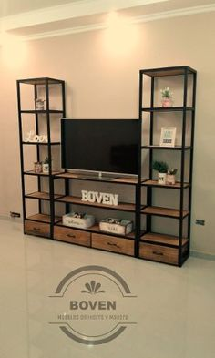 Iron Furniture, Steel Furniture, Industrial Furniture, Home Furniture, Furniture Design, Tv Rack Design, Carpentry And Joinery, Living Room Decor Inspiration, Modern Tiny House