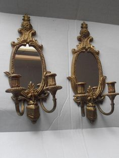 Pair of French Vienna Solid Brass Wall Sconce with by tjmccarty, $178.00